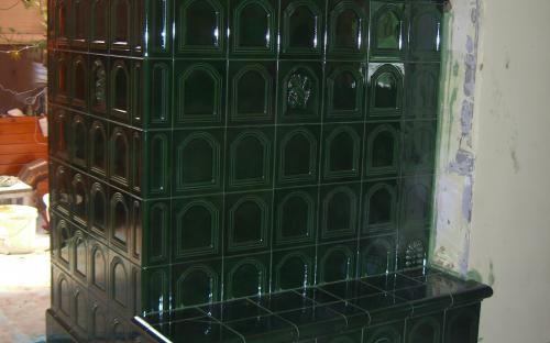 kapus cserépkályha zöld nádasdi